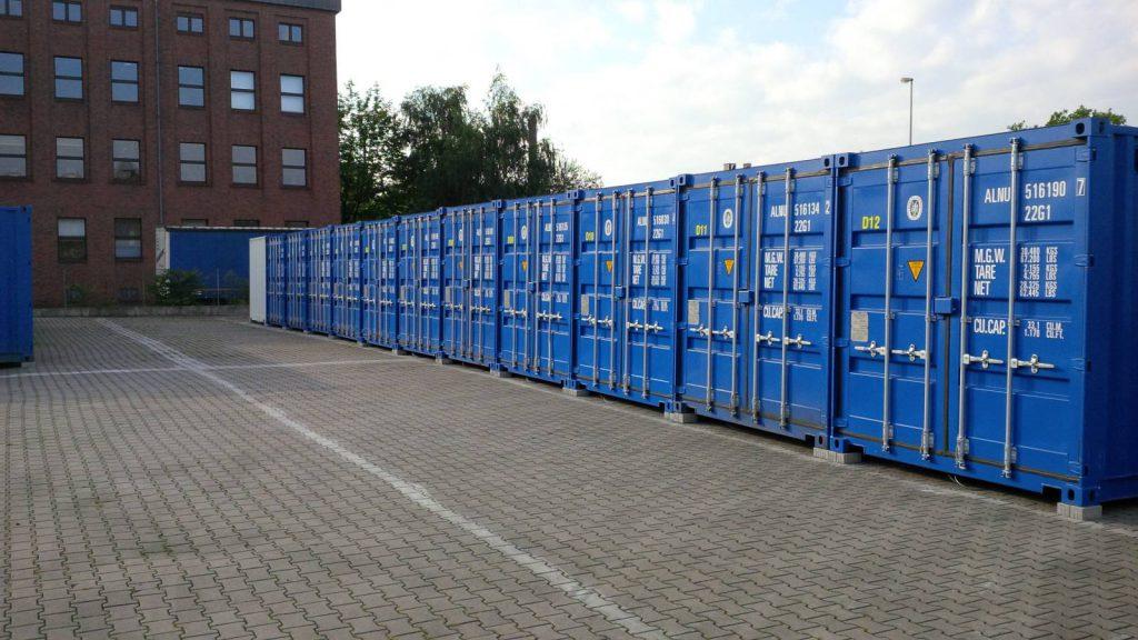 Selfstorage Stapper - Container-Lagerräume - Duisburg - Containerreihe - 1, Self-Storage, Self Storage, Lagerraumvermietung